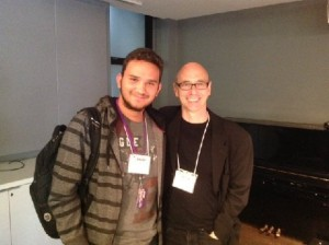 Tyler Grow with Composer Michael A. Levine
